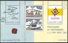Aland 1993 Ship/Van/Post Office/Post/Mail/Ferry/Transport/Postal 4v m/s (n40953)