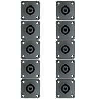 10 PACK PROFESSIONAL SPEAKON PRO 4WIRE SPEAKER BOX CABINET PANEL MOUNT CONNECTOR