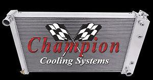 1970 - 1988  General Motors  Champion CC162  Three Row All Aluminum Radiator