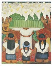 ART PRINT Flower Festival: Feast of Santa Anita, 1931 Diego Rivera 14x11 Poster