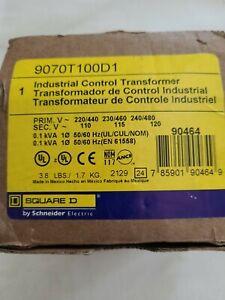 SCHNEIDER ELECTRIC SQUARE D 9070T100D1 INDUSTRIAL CONTROL TRANSFORMER