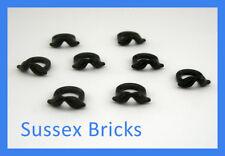 Lego - 8x Black Moustache for Minifigures City Town 15439 - New Pieces