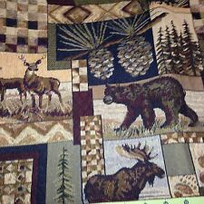 Peters Cabins tapestry fabric One Yd By 56 Wide. On SALE