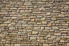 & 7 Sheets stone wall 21x29cm 1/12 Scale Adhesive + Embossed Code 3D699Cc