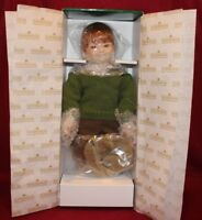 "15"" Dianna Effner Snips And Snails Porcelain Doll,Mother Goose,Knowles,COA,NIB"