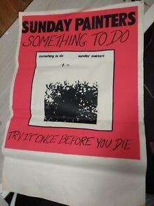 Sunday Painters (Wollongong art-punk band) promo poster 1982