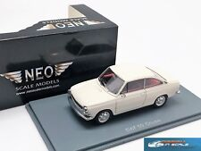 DAF 55 coupe White with Red interior 1971 NEO 43730 1:43