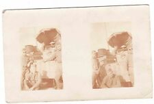REAL PHOTO---------- ARMY FIELD -------------2 PICTURE POSTCARD