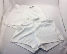 DA Don Alleson 2 Pair Youth Girls Athletic Cheer Shorts Play Shorts Large NWT