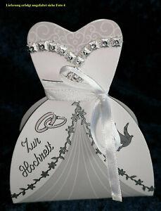 Brautkleid Geschenkverpackung Geld Hochzeit Geldgeschenk