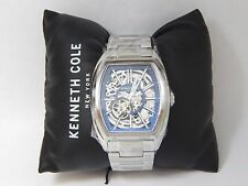Kenneth Cole New York 10030812 Stainless Steel Skeleton Blue Accent Watch