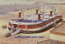 Roy Cross Airfix Hovercraft SR.N4 Print Poster Artwork early 1970's