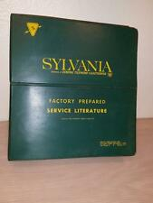 Sylvania Factory Service Literature Notebook Radio TV Phonograph Schematics
