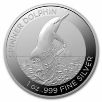 2020 Australia Dolphin Series The Spinner Dolphin 1 oz .999 Silver Capsuled Coin