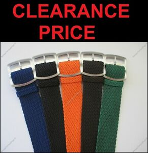 REAL Perlon Germany Made Watch Strap Band Braided Many Colours 22mm 24mm