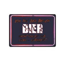 """Schild Hinweisschild Hinweis """"Beweis"""" Bier macht schön und Intelligent Fun Gag"""