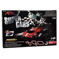AFX 22005 Super Cars MegaG+ Racing Set / 3 Track Layouts: 1:64 HO Slot Car
