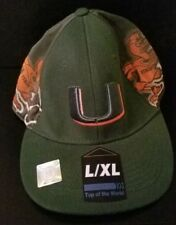 "Miami Hurricane's Deju VU dark green ""U"" sz L/XL Unique"