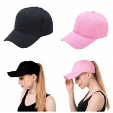 Women Ponytail Cap Messy High Buns Ponycap Adjustable Cotton Baseball Cap Hat