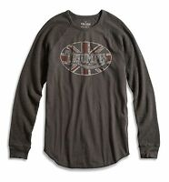Lucky Brand - Men's S - NWT - Black Triumph Motorcycle Graphic Thermal T-Shirt