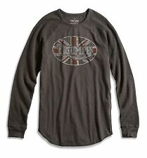 Lucky Brand - Men's XXL - NWT - Black Triumph Motorcycle Graphic Thermal T-Shirt