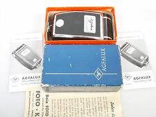 Agfa Agfalux STROBO FLASH POCKET Flash Gun + scatola + 2 x anltg. + 2 Instruc