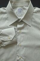 BROOKS BROTHERS Men Italian Cotton Long Sleeve Button Polo Dress Shirt - 15.5x33