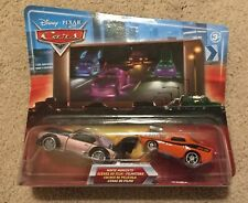 Disney Pixar Cars Movie Moments Blue Background Night Skyline Boost & Snot Rod