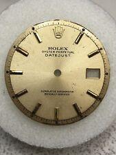 Rolex Mens Non Quick Datejust Champagne Stick Dial Part Only-1601,1603