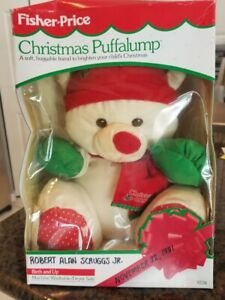FISHER PRICE TOY Christmas Puffalump in orig box 1991 huggable
