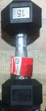 NEW Weider 15 Lb Dumbbell Rubber Coated Single Hex Weight Dumbell 15 Pound