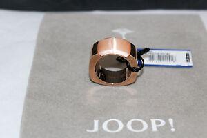 JOOP DAMEN RING JPRG10614D1  EDELSTAHL RECHTECKSCHLIFF B WARE GR 56  *NEU* 1721