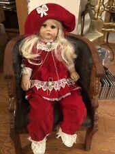 "Lloyd Middleton Winter Doll 242/500 Royal Vienna Collection Red Velvet Dress 24"""