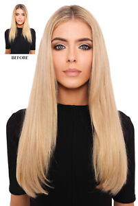 """LullaBellz Super Thick 18"""" Straight Style Clip In Hair Extensions"""