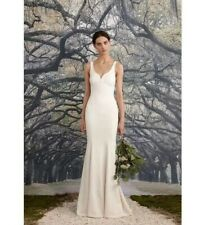 BHLDN Nicole Miller Abigail Bridal Modern Wedding Gown Sz12 FJ10016