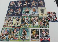 ~*~MIXED LOT OF 36 HANDSIGNED CARDS~*~SYDNEY ROOSTERS + COA