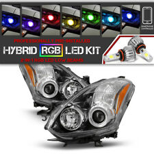 [COLOR CHANGING LED LOW BEAM] Fits 2010-2013 Nissan Altima Coupe Headlights L+R