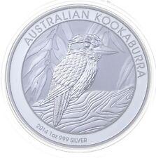 2014 Australian Australia Kookaburra High Relief 1 Oz Silver .999 *043