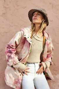 Free People NWT Various Sizes Electric Fields Oversized Tie Dye Parka Jacket