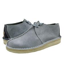 Zapatos de Hombre Clarks Originals Desierto Botas Con Cordones Gamuza Trek 61395 Azul Huevo De Pato