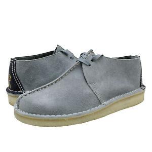 Men's Shoes Clarks Originals DESERT TREK Suede Lace Up Boots 62530 DUCK EGG BLUE