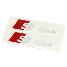 2 Small AUDI S Line Logo Decal Badge Sticker Quattro Avant S4 A3 A6 S6 TT