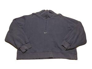 Nike Center Swoosh Blue Sweatshirt Check Travis Scott Women's RARE 1/2 Zip