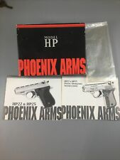 Phoenix Arms / Model Hp, Hp22, Box Only and Instruction Manual