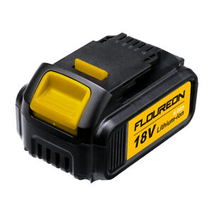 FLOUREON 18V 6.0Ah Li-ion Battery For DEWALT Drill DCB200 DCB184 DCD740 DCF880