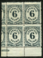 USA  #O50 Official Stamps 1873 Block of 4 MINT OG