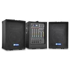 DJ Anlage Set: 4 Kanal-MP3-USB-SD-Mischpult 2x Lautsprecher Boxen & Verstärker