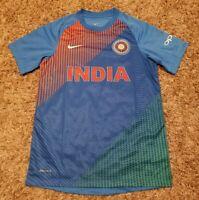 NWOT Nike Dri-fit India Cricket Team T20 OPPO Blue Jersey T-shirt Men Medium