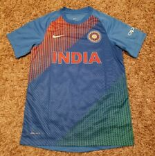 NWOT Nike Dri-fit India Cricket Team T20 OPPO Blue Jersey T-shirt Men Medium