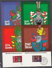 Liechtenstein Scott 704-7 Maxim Card - 1981 Baliff Arms Issue